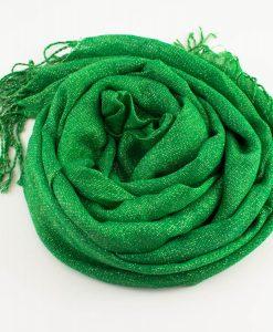 Shimmer Hijab Islamic Green 2