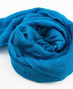 Glitter Crinkle Hijab Azure Blue