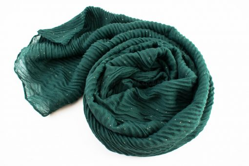 Glitter Crinkle Hijab Forest Green