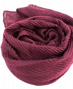 Glitter Crinkle Hijab Rosewood
