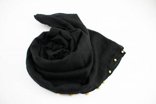 Pearl Globe Hijab Black