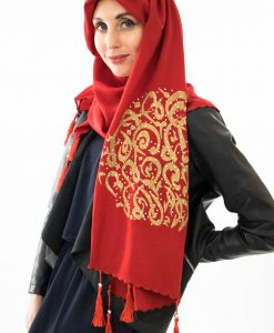 Diamante Hijab - Red - Hidden Pearls 2