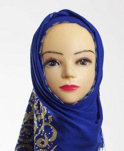 Diamante Royal Blue Hijab