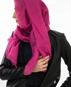Plain Hijab - Shocking Pink - Hidden Pearls 2