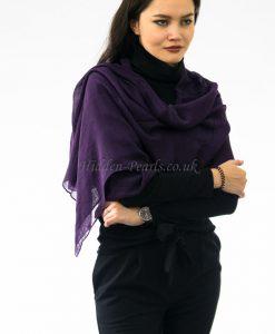 Plain Hijab Violet 2