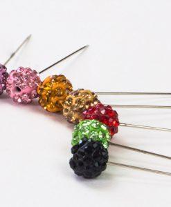 Gold Diamante Globe Hijab Pin