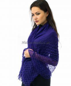 Crinkle Scarf Purple 2