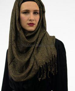 Shimmer Hijab Black & Gold 2