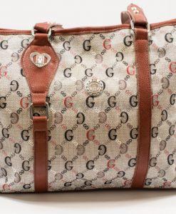 grey-brown shoulder bag