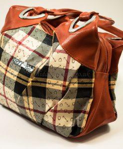 orange-cream shoulder bag