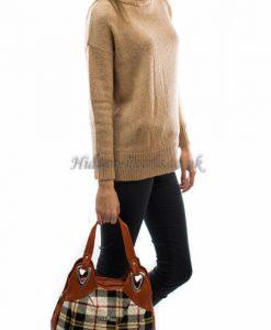 brown orange tartan bag2