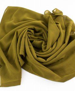 Chiffon Hijab Olive 3