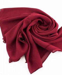 Chiffon Hijab Rosewood 3