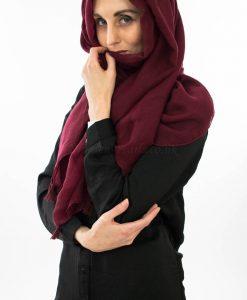 Tassel hijab - Rosewood - Hidden Pearls2