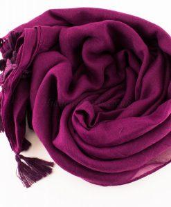 Tassels Blackcurrent Hijab 3