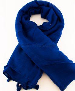 Tassels Royal Blue Hijab