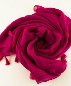 Tassels Shocking Pink Hijab 2