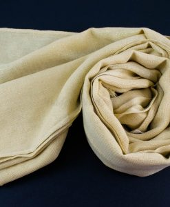 Occasion Shimmer Hijab Ivory Gold 4