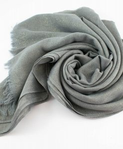 Occasion Shimmer Hijab Silver 3