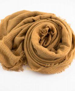 Crimp Hijab Golden Brown