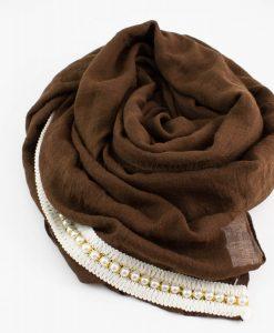 Pearl & Lace Hijab Chocolate 2