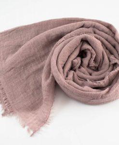 Plain Crimp Hijab Dusty Pink 1