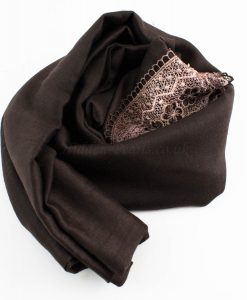 Crochet Lace Hijab Chocolate 2