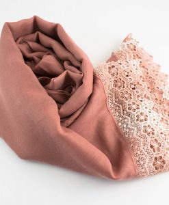 Crochet Lace Hijab Dusty Pink 6