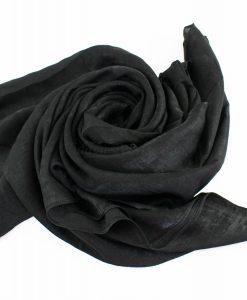 Deluxe Plain Hijab Black 1