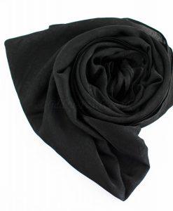 Deluxe Plain Hijab Black 2