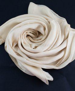 Deluxe Plain Hijab Cream 1