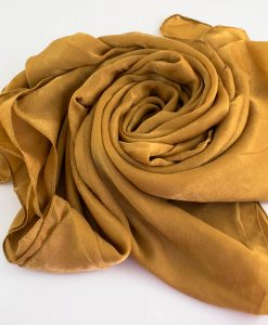 Deluxe Plain Hijab Golden Tan 1