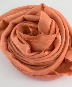 Deluxe Plain Hijab Light Peach 2