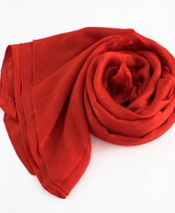 Deluxe Plain Hijab Red 2