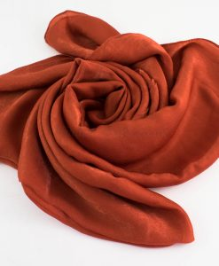 Deluxe Plain Hijab Rust 1