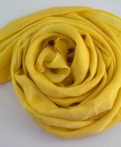 Deluxe Plain Hijab Yellow 3