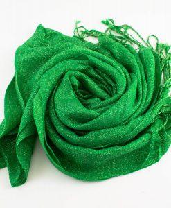 Shimmer Hijab Islamic Green 1