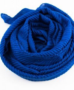 Glitter Crinkle Hijab Royal Blue