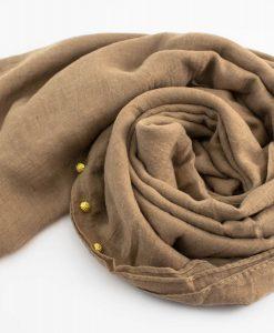 Pearl Globe Hijab Beige Brown