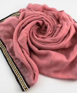 Zirconia & Pearl Hijab Spanish Pink 2